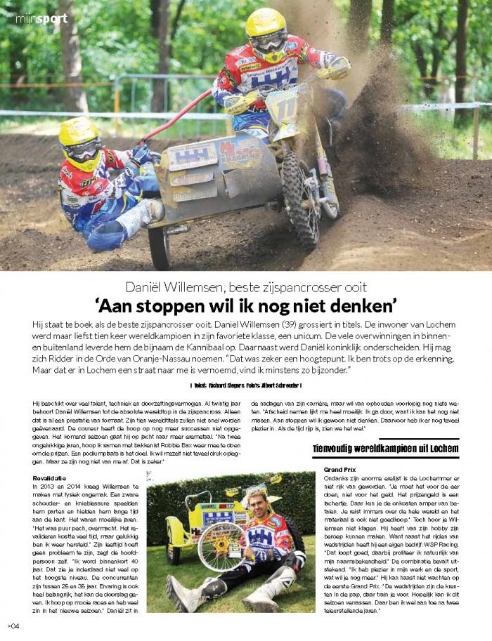 Leuk Artikel over Team Willemsen in Mijn Magazine